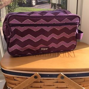 Thirty One 24/7 Case Cosmetic Bag - Purple Chevron